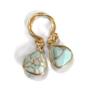 New: Turquoise Gemstone Briolette Earrings
